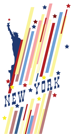 Creative banner with the symbol of the State of New York.