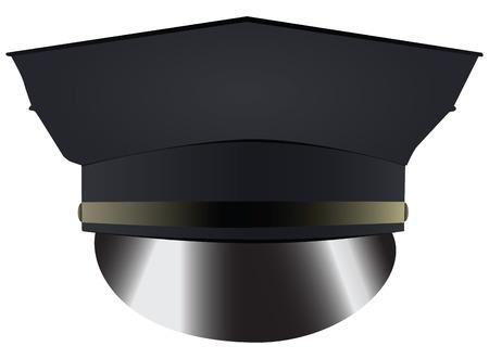 brim: Police uniform cap - headdress police. Vector illustration.