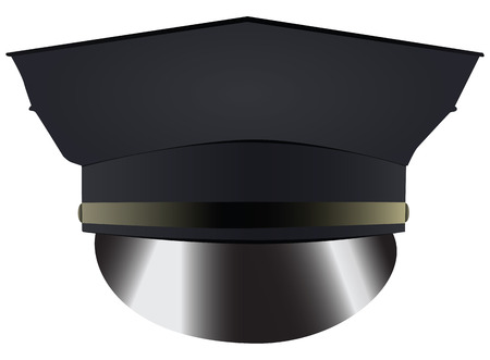 Police uniform cap - headdress police. Vector illustration.