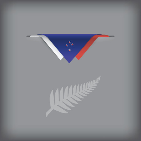 The combination of colors of the national flag New Zealand. Vector illustration.