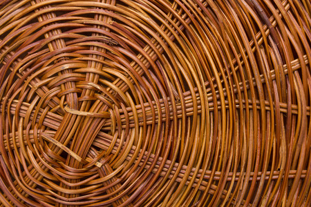 braided flexible: The circular pattern woven, plaited bottom of the basket.
