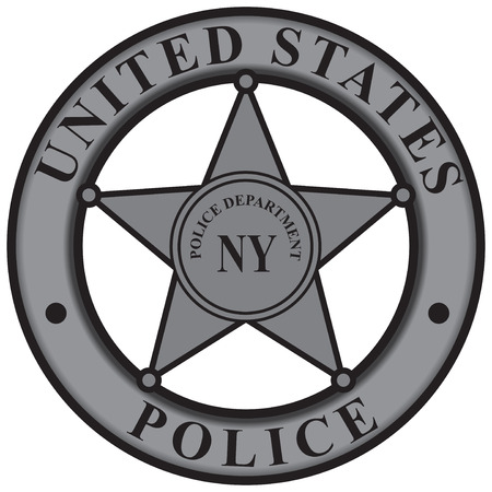 Police badge New York Police Department. Vector illustration.