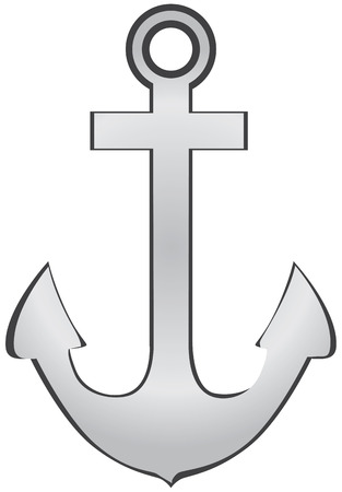 sailing: A symbolic anchor for the design works. Vector illustration. Illustration