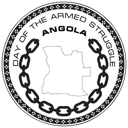 armed: Day of the Armed Struggle, Angola. Vector illustration.