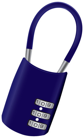 secret code: The luggage padlock for suitcases and bags.