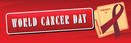 Symbol international holiday events February 4, Banner World Cancer Day. 版權商用圖片 - 50338987