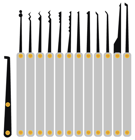 A set of master keys to unlock the lock without a key.