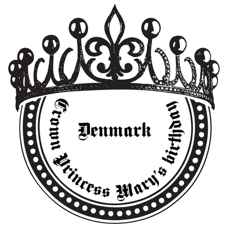 Crown Princess Mary is birthday celebration Denmark. imprint of the stamp.