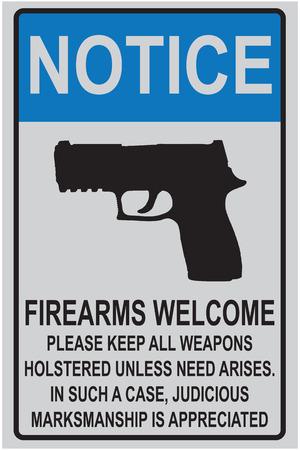 Welkom herinnering voor bezitters van vuurwapens voor kantoren en onderwijsinstellingen.
