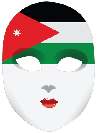 alteration: Bandanna in the form of the flag of Jordan. Illustration
