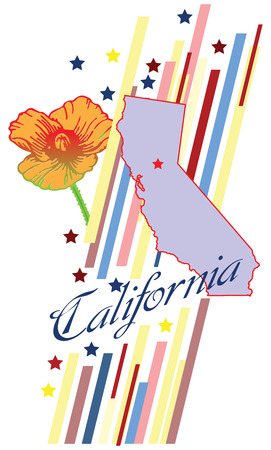 Banner California for the presentation of the US state.