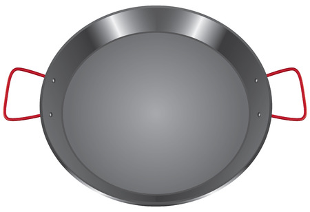 steel pan: Cacerola de acero con dos asas.