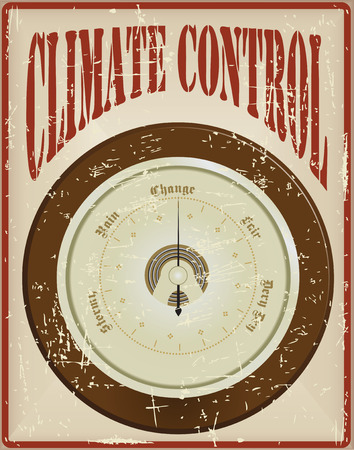 Wall barometer - the basis of climate control. The old card.