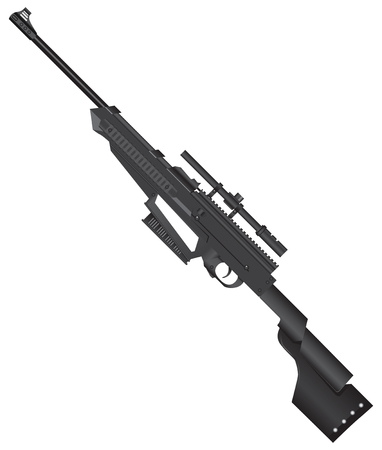 Light sniper rifle for training and use of young shooter.