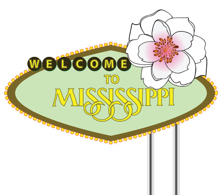Creative road stand Mississippi State, USA. Vector illustration.