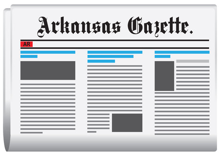 gazette: Abstract newspaper of Arkansas in the United States. Arkansas Gazette.