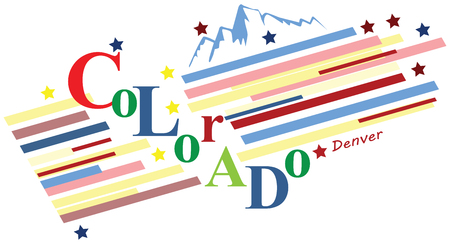 colorado mountains: Banner Colorado for the presentation of the US state. Vector illustration. Illustration