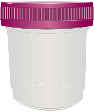 std: Sealed plastic container for medical purposes. Vector illustration.