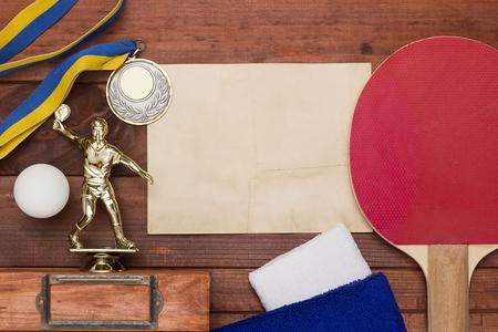 inventario: Creativa sobre el tema de tenis de mesa con el inventario, y el car�cter premium.