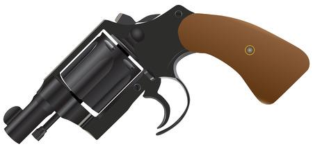 gun barrel: Gun with a drum and a convenient short barrel
