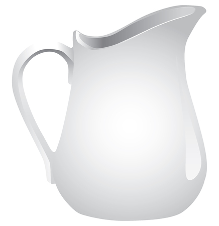 Pitcher for washing and storage of water, milk, juice.