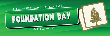 Banner for the Foundation Day Norfolk Islandl, celebrated on 6 March.