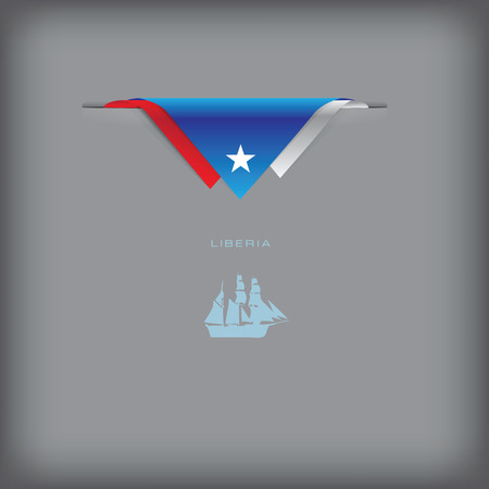 token: Liberia - a banner with the elements of the flag.