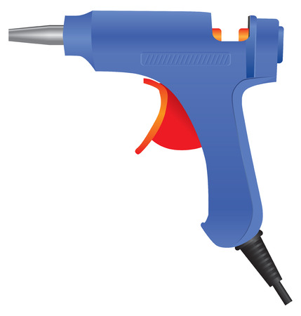 cling: Electric glue gun for industrial use. Vector illustration.