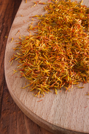 dried flower arrangement: Inflorescence saffron most expensive spice used in all cookeries world.