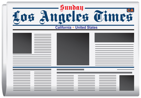 guess: Newspaper Los Angeles Times California United States Illustration