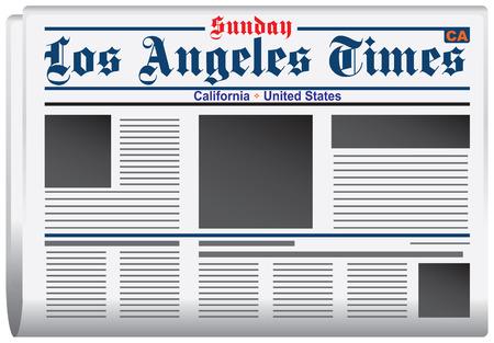 journalism: Newspaper Los Angeles Times California United States Illustration