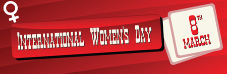 Banner for the International Womens Day, celebrated on 8 march.