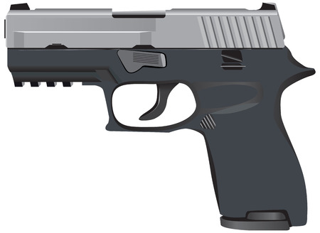 tactical: The modern model of tactical pistol. Vector illustration.