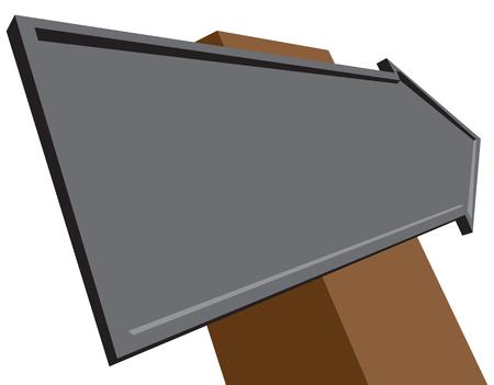 Road sign arrow, volume index, isometric view.