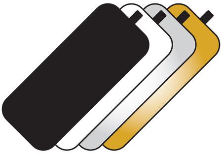 strobe light: Set for photo-reflectors with four basic shades. Illustration