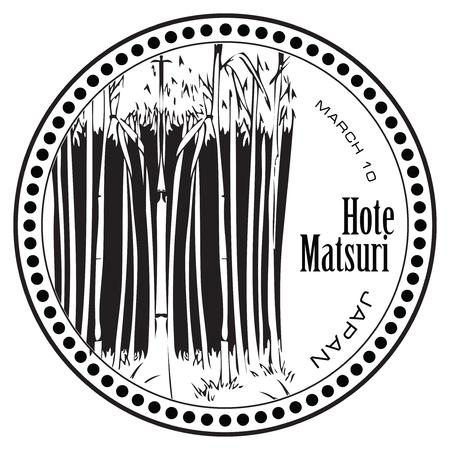Popular, History Japanese holiday Hote Matsuri, 10th of March. Illustration