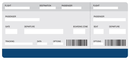 The classic form air ticket, with information fields to fill.  イラスト・ベクター素材