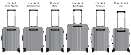 taken: The dimensions of hand luggage taken by the airlines.