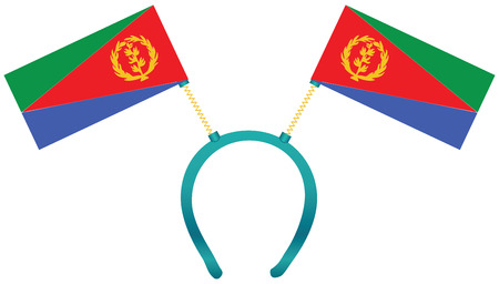 Headdress with a flag of Eritrea for holiday.