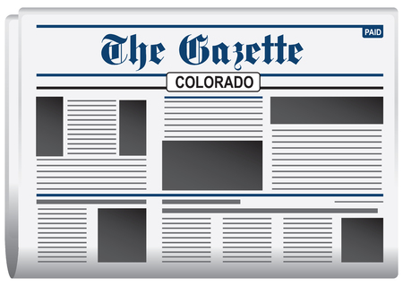 gazette: Newspaper The Gazette, Colorado US. Daily news bulletin.