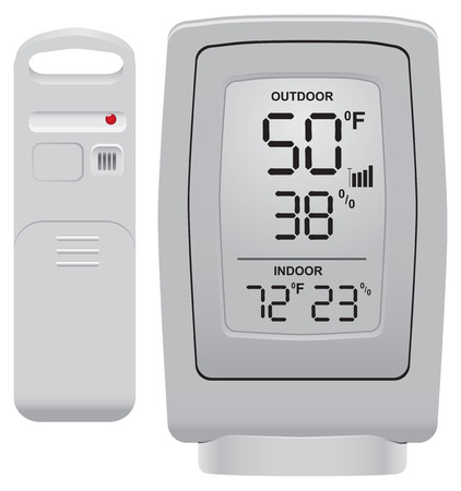 sensor: Outdoor thermometer and humidity sensor for use in a domestic environment.