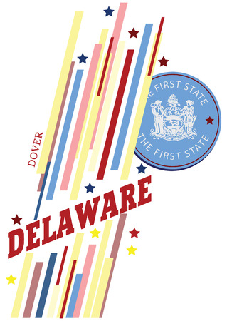 dover: Banner Delaware for the presentation of the US state. Vector illustration.
