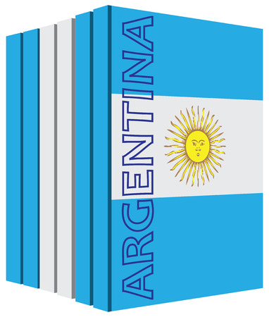 bibliography: Books about the country of Argentina. Symbol flag. Illustration