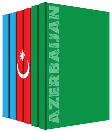 Books about the country of Azerbaijan. Symbol flag. Ilustrace