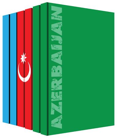 Libros sobre el país de Azerbaiyán. la bandera del símbolo. Foto de archivo - 52899434