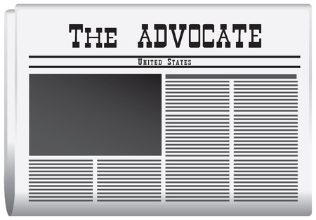 advocate: Newspaper in the US The Advocate. Vector illustration.