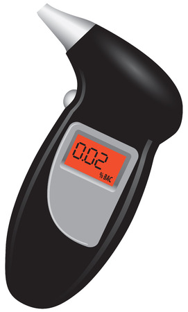 Compact tester alcohol content in the human body with a digital display.