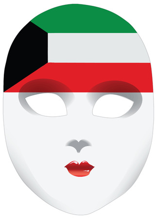 alteration: A symbolic mask, a bandana in the form of the national flag, the image of the state Kuwait
