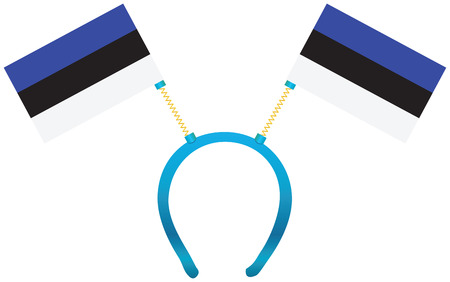 Headdress with a flag of Estonia for holiday.