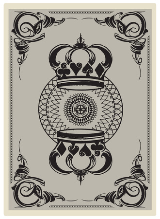 The reverse side of a playing card.